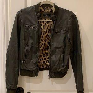 Dolce & Gabbana Leather Zipper Jacket!